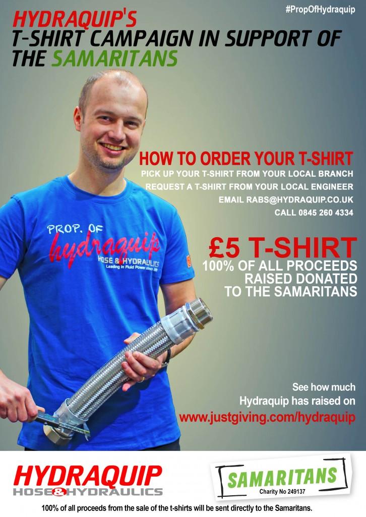Hydraquip T-Shirt Campaign The Samaritans