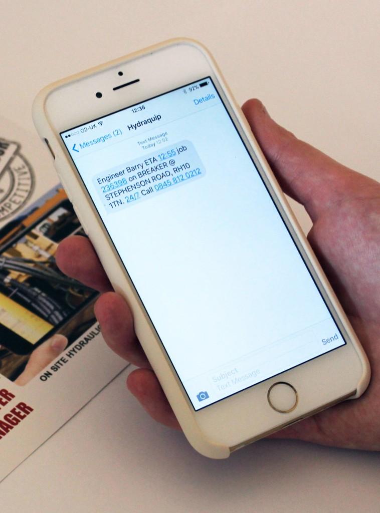 Hydraquip SMS Alerts